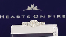 1.51 ct 18K W HOF Hearts on Fire Round Diamond Engagement Ring $13k AGS Triple 0