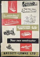 Original Bassett-Lowke Catalogue 1962 Locomotives, Trams, Traction engines, Etc