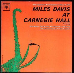 "1962 hard bop MILES DAVIS ""Live @ Carnegie Hall, 1961"" COLUMBIA CL-1812 mono"