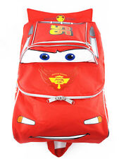 """New Licensed 16"""" DISNEY'S CARS 3D MCQUEEN TRAVEL AND SCHOOL BACKPACK"""