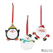 3 Personalized Resin Christmas Ornaments SNOWMAN SANTA PENGUIN Christmas Tree