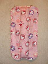 Niños hecho a mano cinturón de seguridad Pad Reversible-Hello Kitty/rayas (36)