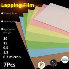 8.5x11'' 3M Microfinishing Sheet Lapping Film Assortment 30,12,9,3,1,5 0.3Micron