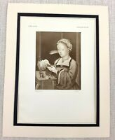 1927 Antique Print Girl Reading Dutch Old Master Painting Pieter Claeys Younger