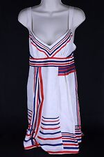 Guess Jeans 5 Silk Spaghetti Strap Sundress Skirt NWT Red, White & Blue 4th July