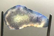 Druzy Geode Achat Scheibe - Blau, Bi Color  22,65Ct  Afrika