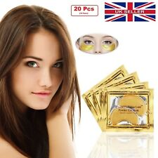 20 Pcs 24k Gold Collagen Bio Crystal Mask Face Facial Makeup Eye Anti Ageing