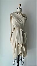 Rick Owens S/S 2012 Collection Taupe Textured Silk Draped Sleeveless Dress Sz S