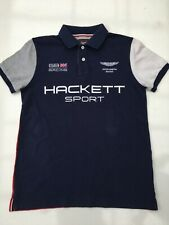 Aston Martin polo shirt by Hackett GB racing navy/red v.good con small 99p start