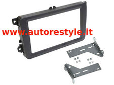"Mascherina kit doppio 2 Din 6,2"" e 6,5'' VW Golf V VI 5 6 Touran Passat Polo Eos"