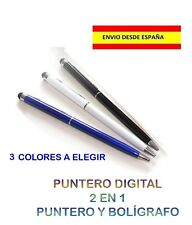 PUNTERO TÁCTIL DIGITAL MÓVIL TABLETA CAPACITIVO TOUCH PEN BOLIGRAFO 2 EN 1 ÚTIL