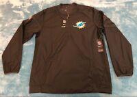 Nike Miami Dolphins NFL Sideline Lockdown 1/2 Zip Pullover Performance Jacket