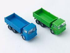 Wiking N Scale 2 Truck Set - Blue and Green Stake/Dump Trucks