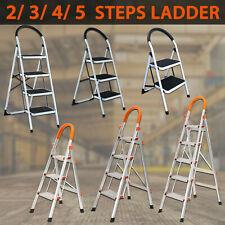 2 3 4 5 STEP LADDER MULTI PURPOSE FOR  HOUSEHOLD OFFICE FOLDABLE NON SLIP