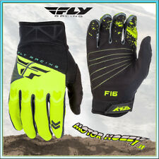 GUANTI OFF ROAD CROSS ENDURO MTB QUAD FLY F-16 NERO GIALLO FLUO TAGLIA S