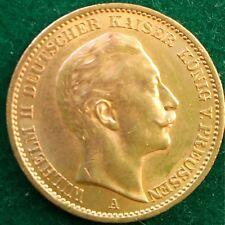 20 Mark Kaiserreich 900 Goldmünze Wilhelm II König von Preußen 1911 A Jaeger.252