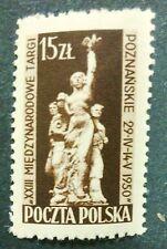 POLAND STAMPS MNH Fi516 Sc474 Mi557 - XXIII Trade Fair Poznan, 1950, clean