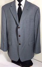 Marks & Spencer Men's Steel Blue Sport Coat 3-BTN Jacket Light Wool Blazer 48 L