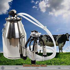 Portable Cow Milker Stainless Steel Milking Bucket Tank Barrel Newest.