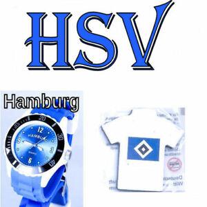 Hamburg Armbanduhr + Hamburger SV / HSV Magnet Pin Neu ( W )