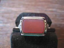 exklusiver Art Deco Ring Siegelring 2farbiger Lagenstein 835er Silber Unikat !