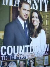 Majesty Magazine V32 #4 William & Kate Countdown To Wedding & Childhoods, Kate's