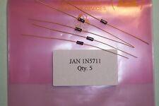 JAN5711 1N5711 rf shottkty diodos Mil Spec Cant. 5 nos