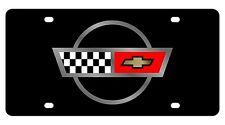New Corvette C4 Flags Logo Acrylic License Plate