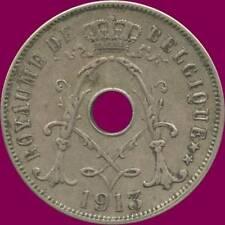 1913 Belgium 25 Centimes Coin