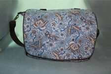 Bumble Bags Jessica Blue Paisley Messenger Backpack Diaper Bag
