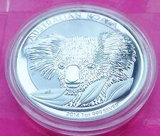 2014 AUSTRALIA KOALA $1 ONE  DOLLAR  SILVER 1oz  COIN BEAUTIFUL