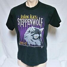 VTG 1996 John Kay & Steppenwolf Tour T Shirt Concert Rock Wolf Band 90s Large