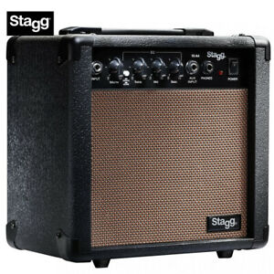 """Stagg 10 Watts Acoustic Guitar Amplifier with 8"""" Speakers and 3 Band Equalizer"""