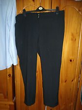 M&Co. Black Partial Elasticated Waist 100% Polyester Trousers 20
