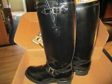 "CHIPPEWA 71418 BLACK POLISHABLE LEATHER 17"" STEEL TOE MOTORCYCLE BOOTS 11D"