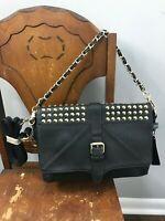NWT MMS Design Studio Black Studded Women's Handbag Purse