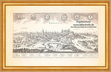 Cracovia Cracovia Polonia Vístula Marienkirche sinagoga grabado Merian 0986