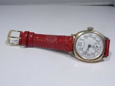 ART DECO PERIOD WALTHAM GOLD FILLED CUSHION CASE WATCH WORKING