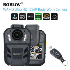"BOBLOV WA7-D HD 1296P 64GB 2.0"" Body Worn Camera Remote Control 4000mAh 170°FOV"