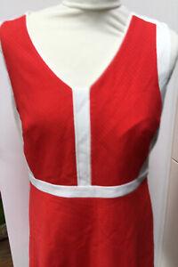 BNWT Brand New A Line Shift Dress Size 14 Dorothy Perkins Orange Cream Work?