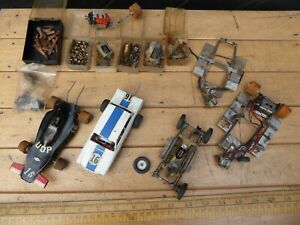 Vintage Scratch built slot cars with rod chassis / brass chassis .Lotus Cortina