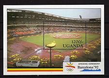 Uganda : 1992  Olympic Games Barcelona 92 Minisheet MNH