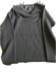 MA Strum Jumper Black XL Merno Wool