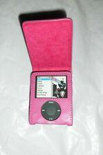 Pink faux leather flip case for ipod nano 3rd gen 4-8 GB  UK