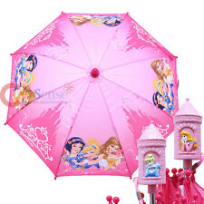 Disney Princess Kids Umbrella Cinderella Snow white with Belle Pink 3D Castle