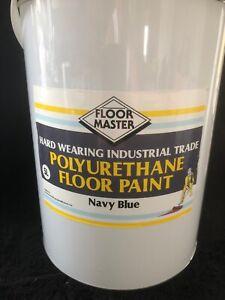 FLOOR MASTER GARAGE/WORKSHOP FLOOR PAINT 5LT NAVY BLUEUsed By the Professionals.