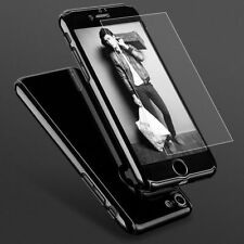 For iPhone 8 Plus 7 6S 360° Protective Case Shockproof Slim Cover+Tempered Glass