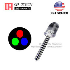 50pcs 10MM Water Clear 4Pin RGB Red Green Blue Common Cathode LED Diodes USA