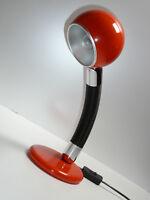 TISCHLAMPE Schreibtisch-Leuchte 70er Jahre pop art orange 70s desk table lamp