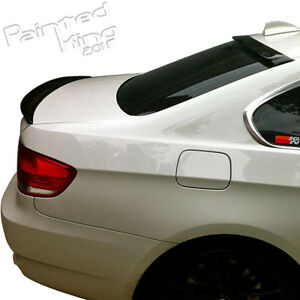 Unpainted Fit For BMW 3-Series E92 P Type-Type Rear Trunk Spoiler ABS 07-13